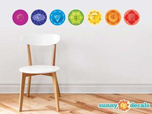 seven chakras symbols stickers