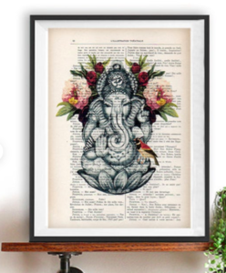unique yoga art gift